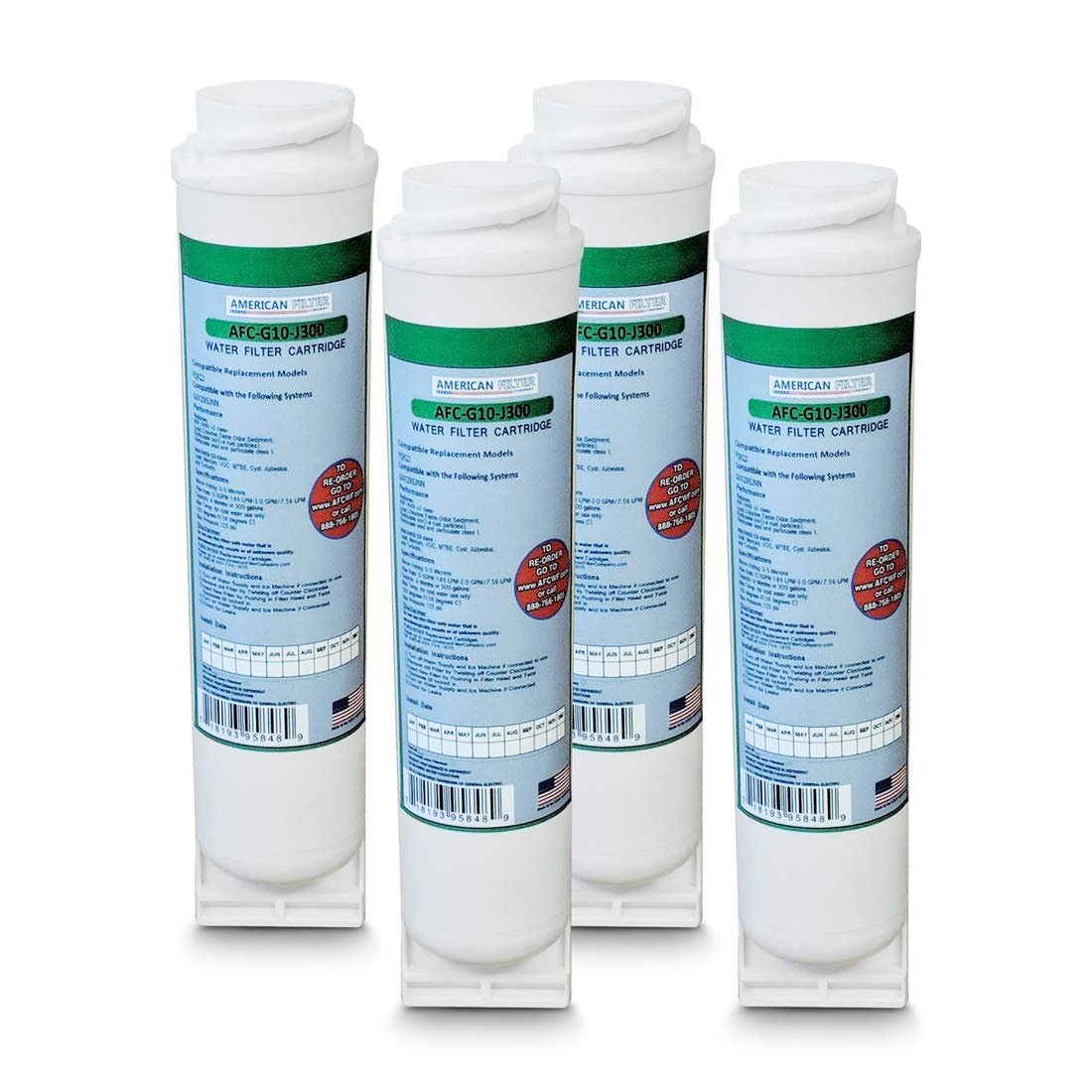 4-Pack GE FQK2J Compatible Water Filter by American Filter Company