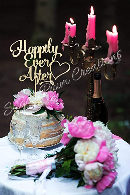 Amazoncom Happily Ever After Cake Topper Arts Crafts Sewing