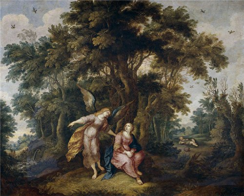Widescreen Cooler (Oil Painting 'Francken Frans II Agar Y El Angel', 24 x 30 inch / 61 x 76 cm , on High Definition HD canvas prints is for Gifts And Dining Room, Home Theater And Nursery Decoration, rolled)
