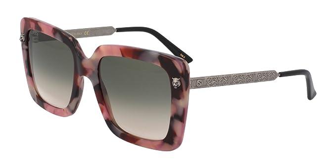 Gucci GG0216S 005, Gafas de Sol para Mujer, Marrón (5/Green ...