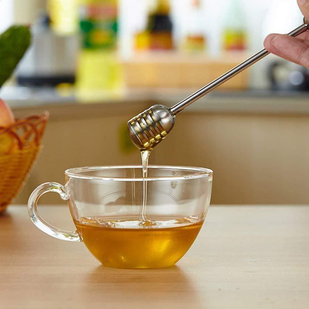 xnbnsj Honey Blender Stainless Steel Round Honey Spoon Creative Honey Stirring Stick