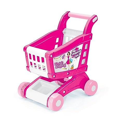 Vinsani - Carro de la compra y alimentos para niños, color rosa