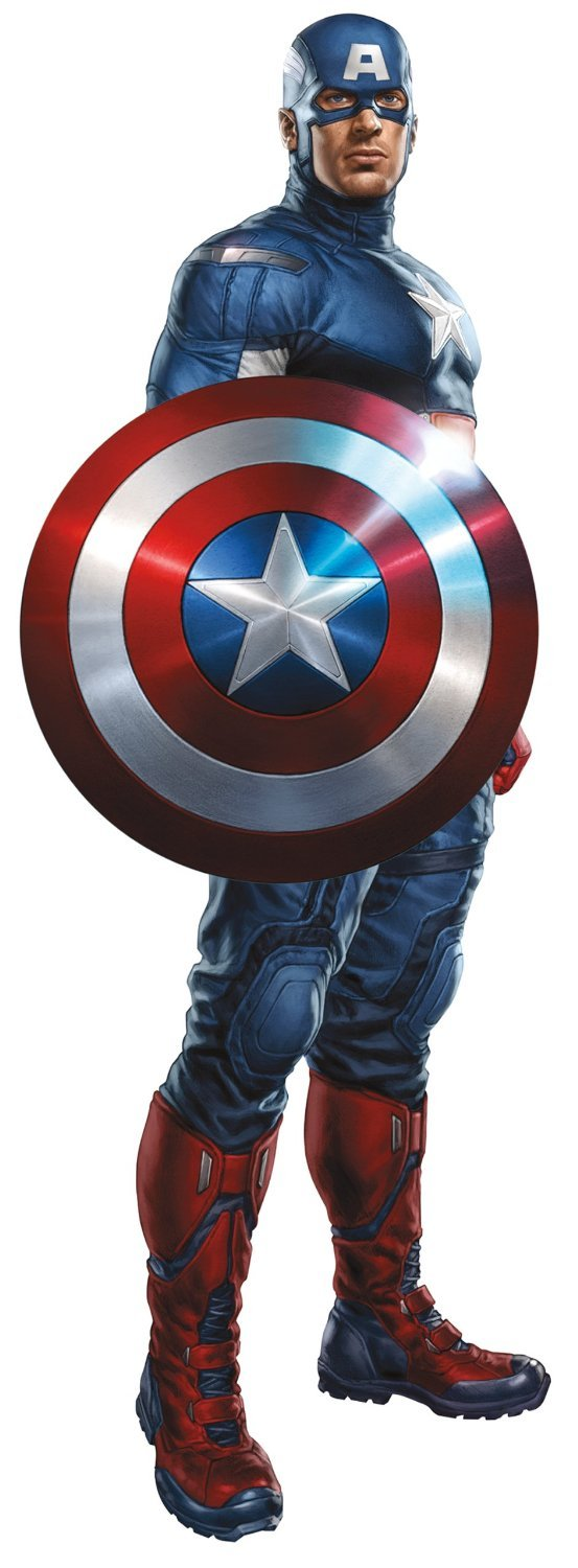 Marvel Superheroes Comic - The Avengers - Captain America Giant Wall Decal Sticker