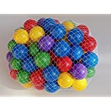 "* Extra 20~40% Off * My Balls 100 pcs Crush Proof Balls in 5 Bright Colors - 2.5"" Diameter Air-Filled non-Recycled PE Plastic Phthalate Free BPA Free"