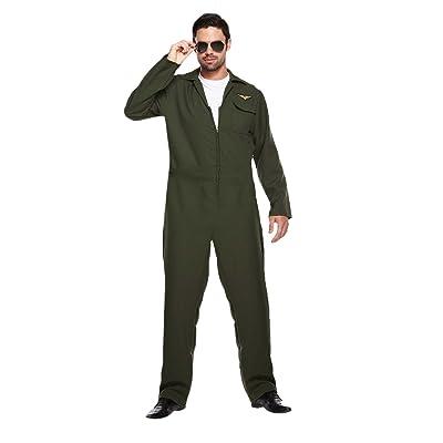 Adulto Hombre Piloto Aviador Disfraz - VARIOS COLORES, X-Large: Ropa y accesorios