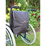 Sheerlines Black Wheelchair Bag with Padded Back Support