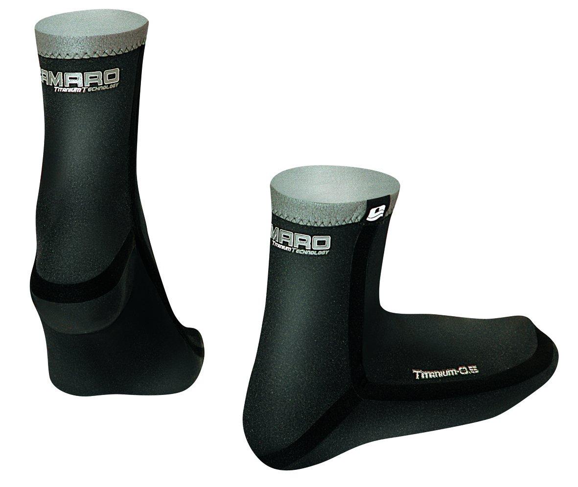 Camaro Titanium 0.5mm Seamless Waterproof Socks 0.5Seamless WP Socks-37//38-BLK-236-99-P