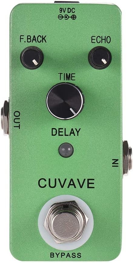 Muslady CUVAVE Pedal de Efecto para Guitarra, Eco Analógico Clásico de Retardo Efecto Pedale True Bypass