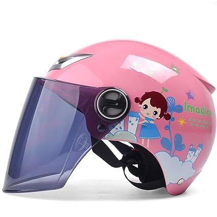 OuYou Casco Abiertos Patr/ón Lindo Oso Protector de Bicicleta Moto Para Ni/ños Ni/ñas Chicos Chicas En Cuatro Colores Rosa