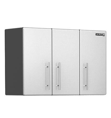 Amazon 3 Door Wall Cabinet In Starfire Pearl Home Kitchen