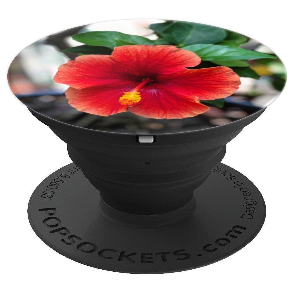 Amazon Hawaiian Tropical Red Flower Popsocket For Smart Phones