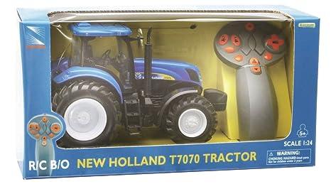New Ray 88553 - Tractor New Holland de juguete (escala 1:24)