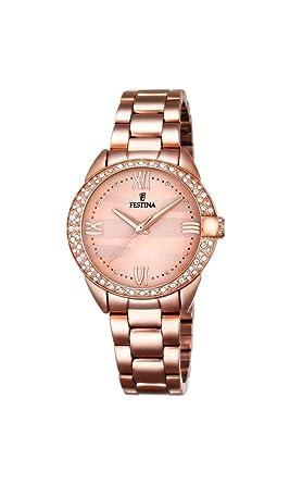 Festina F16920/2 - Reloj de Pulsera analógico para Mujer con Mecanismo de Cuarzo y Correa revestida en Acero Inoxidable: Festina: Amazon.es: Relojes