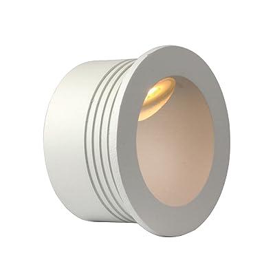 2W 60mm stiegenbenleuchtung Applique murale stiegen LED encastrable stiege Lampe éclairage d'escalier pour l'intérieur et l'extérieur Moderne Weiss Rund