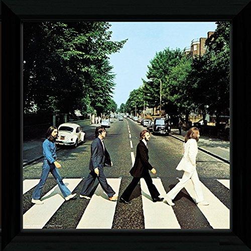 GB Eye Ltd, The Beatles, Abbey Road, Bild gerahmt, 30 x 30 cm PFN004