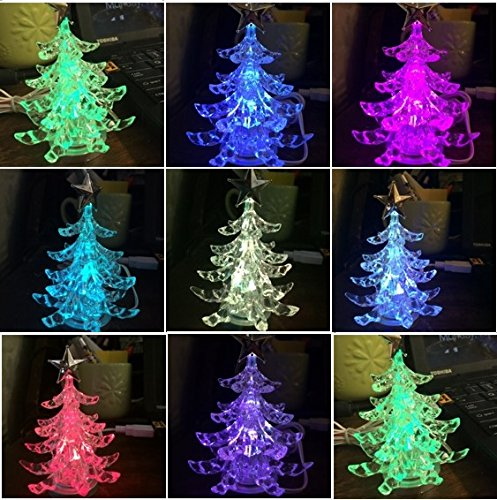 amazoncom usb powered miniature christmas tree multicolor leds led christmas tree home kitchen