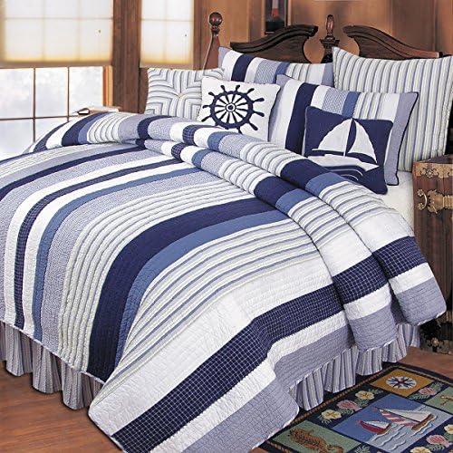 C F Home Nantucket Stripes Euro Sham European Blue Multi