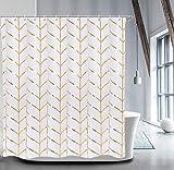 LIVILAN Fabric Shower Curtain Set with 12 Hooks