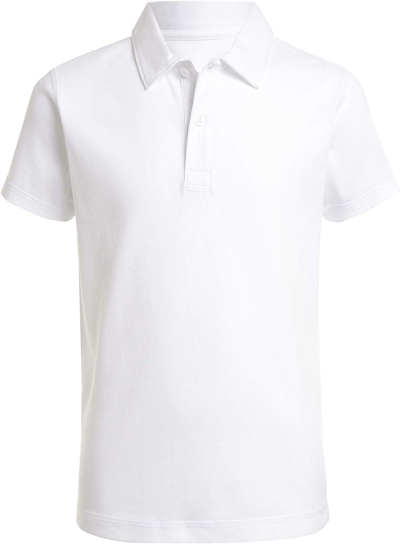 Nautica Boys Big School Uniform Sensory-Friendly Short Sleeve Polo