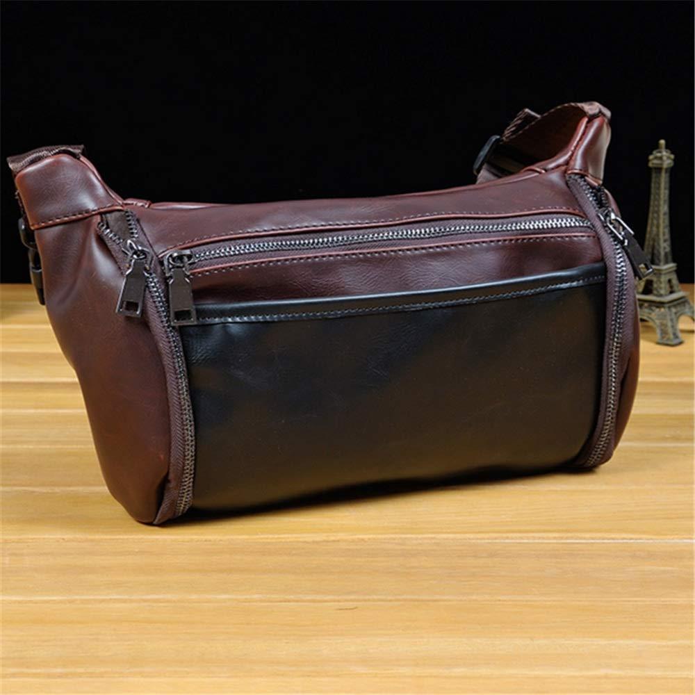 Yzibei Genuine Leather Lambskin Waist Bag Brown Fanny Pack