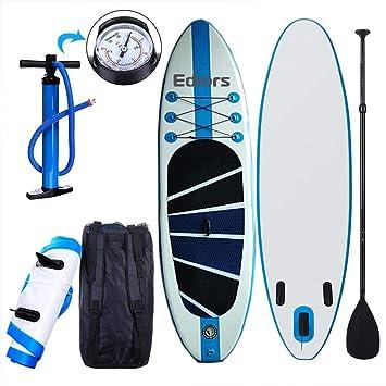 M & M MARS CW - Tabla de Surf Hinchable de 300 cm con Acolchado Ajustable