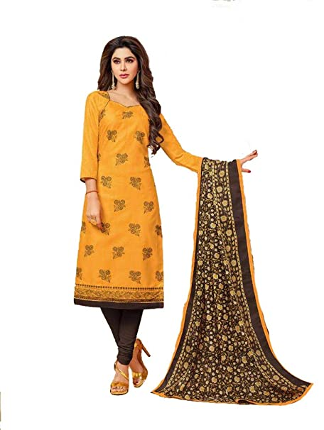 9d7a087fc9 Shree Ganesh Retail Womens Churidar Material | Salwar Suit | Salwar Kameez  Unstitched Cotton Dress Material: Amazon.in: Clothing & Accessories