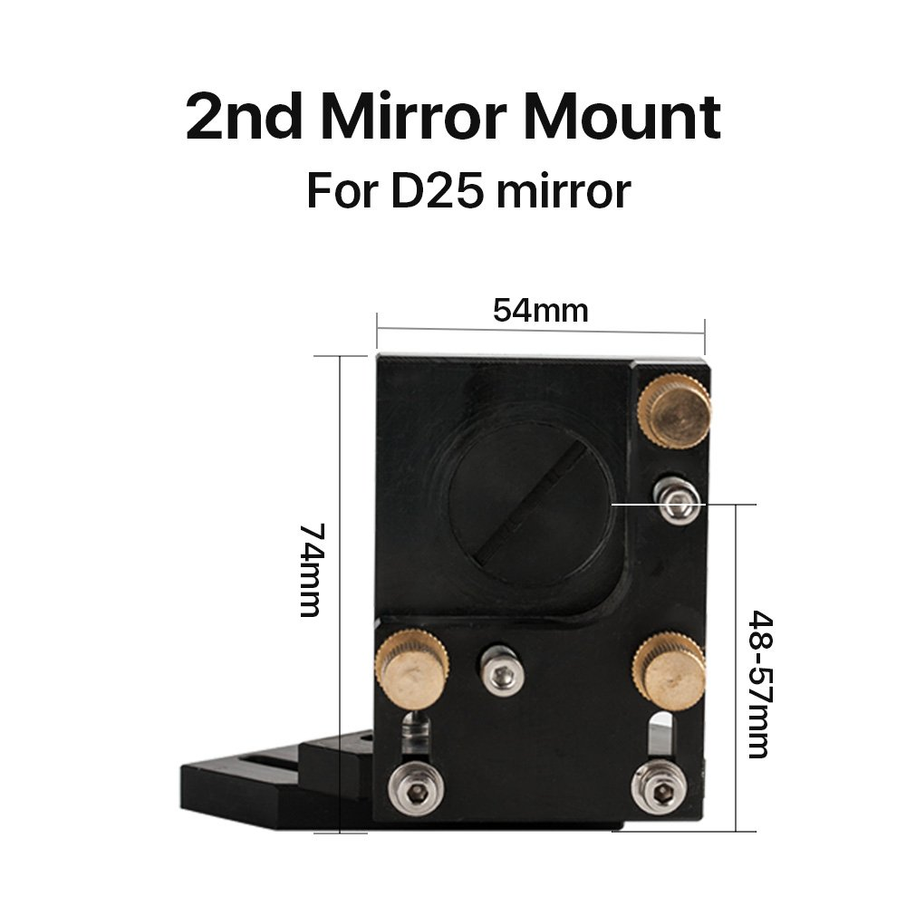 Model A Cloudray CO2 Laser Head Whole Set Incl 1 PCS Focus Lens D20mm FL63.5mm and 3 PCS Mirrors D25mm 2PCS Mirror Mounts