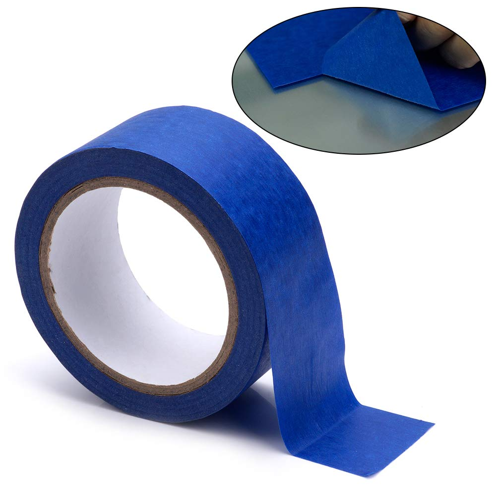Professional Blue Painters Tape, FYSETC 1.88''/ 48mm Blue Masking Tape for Creality CR-10 10S S4 Ender 3 Glass Plate Tape 2090 Masking Tape, 30M/ 33 Yd by FYSETC (Image #1)