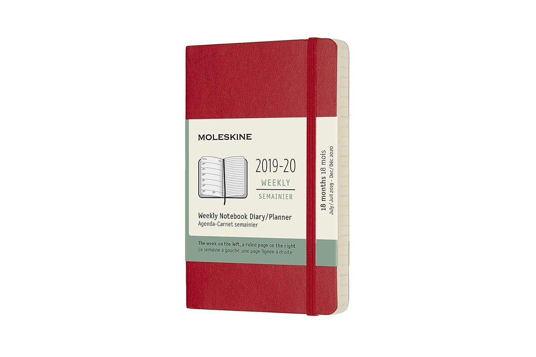 Moleskine 2019-20 Weekly - Agenda Cuaderno Semanal de 18 Meses 2019/2020, Rojo escarlata, Tamaño 14x9 cm