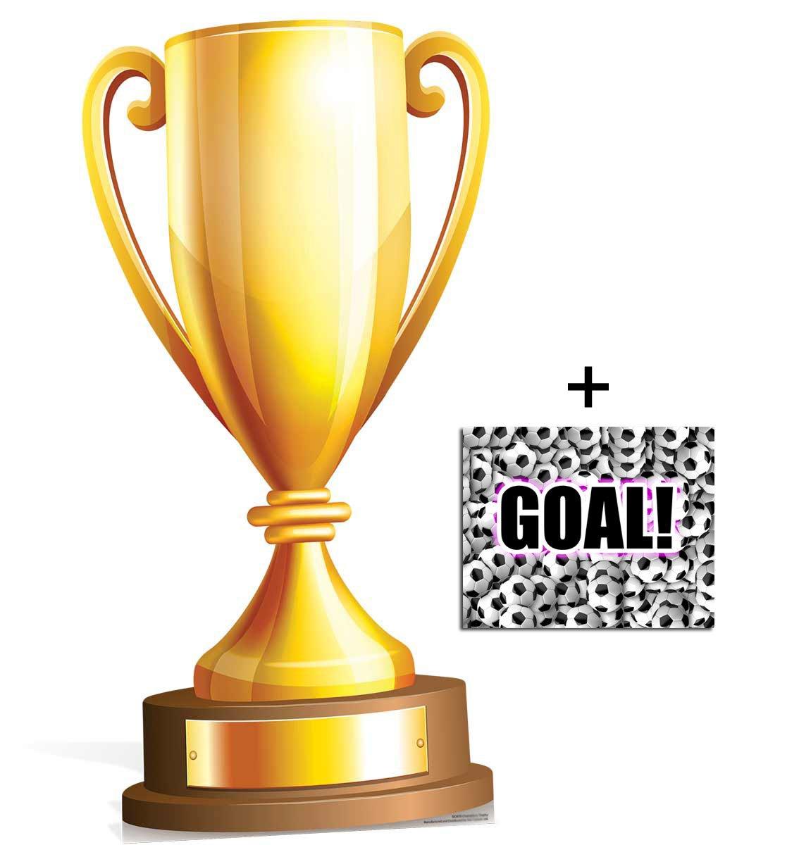 Fan Pack - Grand trophée des champions Silhouette En Carton Standee / Stand-Up - Avec Star Photo (Dimensions 25x20 Cm) BundleZ-4-FanZ Fan Packs