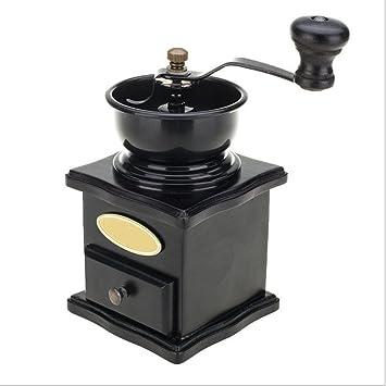 PENG Dos partes del manual: molinillo de mano molinillo de café moler granos de café especias accesorios de cocina de madera máquina de café manivela ...