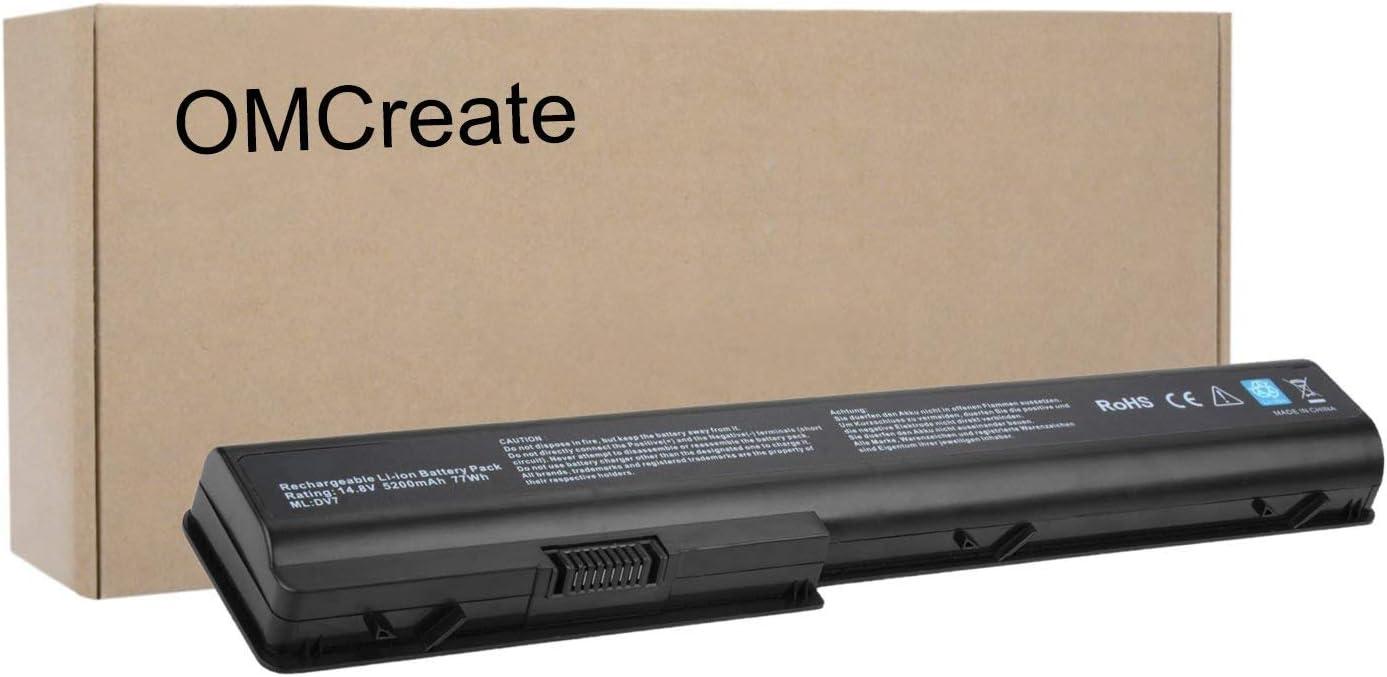 OMCreate Battery Compatible with HP Pavilion GA08 480385-001 KS525AA HSTNN-IB75 HSTNN-DB75 HSTNN-C50C HSTNN-OB75 516355-001 486766-001 464059-142 464059-141