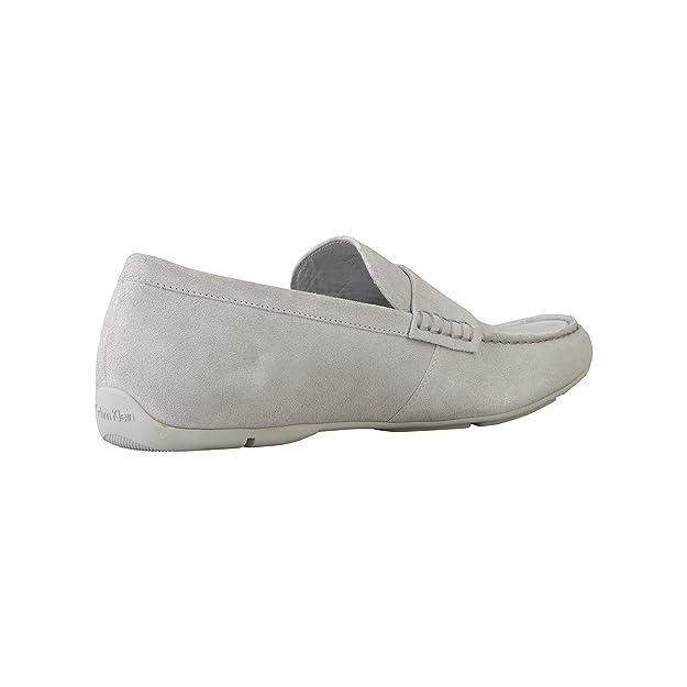 Calvin Klein - Mocasines de Piel para Hombre Gris Gris 40, Color Gris, Talla 41 EU: Amazon.es: Zapatos y complementos