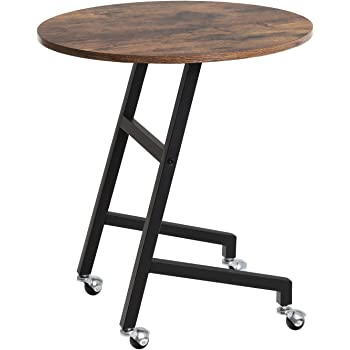 Songmics vintage end table mobile side table - Metal side tables for living room ...