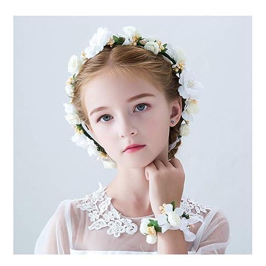 Guirnalda de Flores Tocado para niños Muñeco de Flores Traje para ...