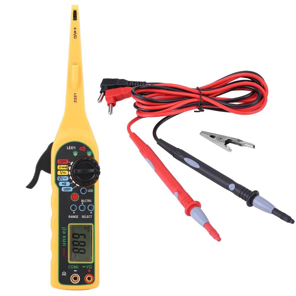 Qiilu Auto Circuit Tester Multimeter Lamp Car Repair Automotive Electrical Diagnostic Tool(Yellow)
