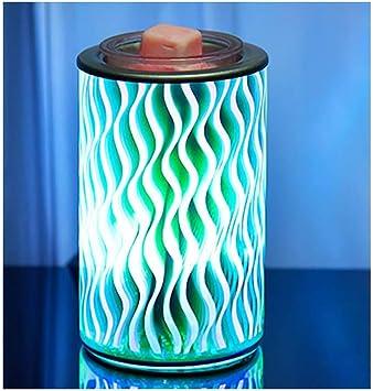 3Dガラスオイルバーナー、アロマランプ電気ワックスメルトバーナー、ホームオフィスの寝室のリビングルームのギフト用の明るい香りの装飾