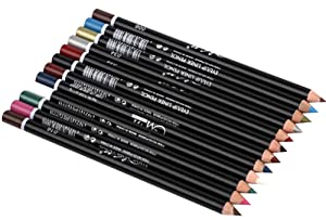 Faithtur 12 PCS Colorful Waterproof Smooth Eyeliner Eyebrow Pencil Makeup Pen Eye Shadow Cosmetic Set