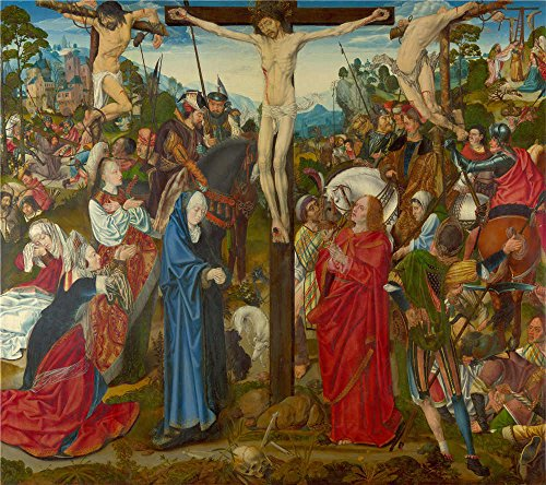 The High Quality Polyster Canvas Of Oil Painting 'Master Of The Aachen Altarpiece The Crucifixion ' ,size: 20 X 23 Inch / 51 X 57 Cm ,this Vivid Art Decorative Prints On Canvas Is Fit For Dining Room Artwork And Home Gallery Art And Gifts