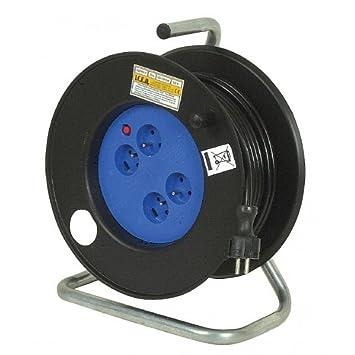 Kabeltrommel, elektrisches Kabel 25 m 3 g 1.5 mm 4 Steckdosen 3200 ...