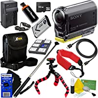 Sony HDR-AS20 Action Video Camera with Wi-Fi, NFC & Full HD 1080p Video (International Version) + NP-BX1 Battery & AC/DC Charger + 10pc 32GB Dlx Accessory Kit w/ HeroFiber Cleaning Cloth At A Glance Review Image