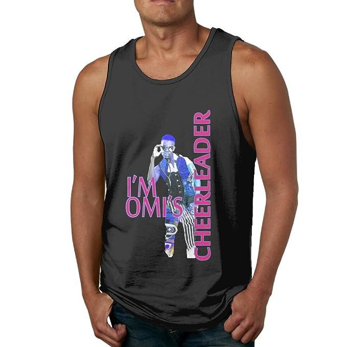 9514e5c42c8951 Amazon.com  TisEEaZs Mens OMI Cheerleader Fitness Jogging Black Shirt Tank  Tops  Clothing