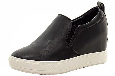 19a0035fdfa Steve Madden Women s Wilkes Fashion Sneaker Black 8 ...
