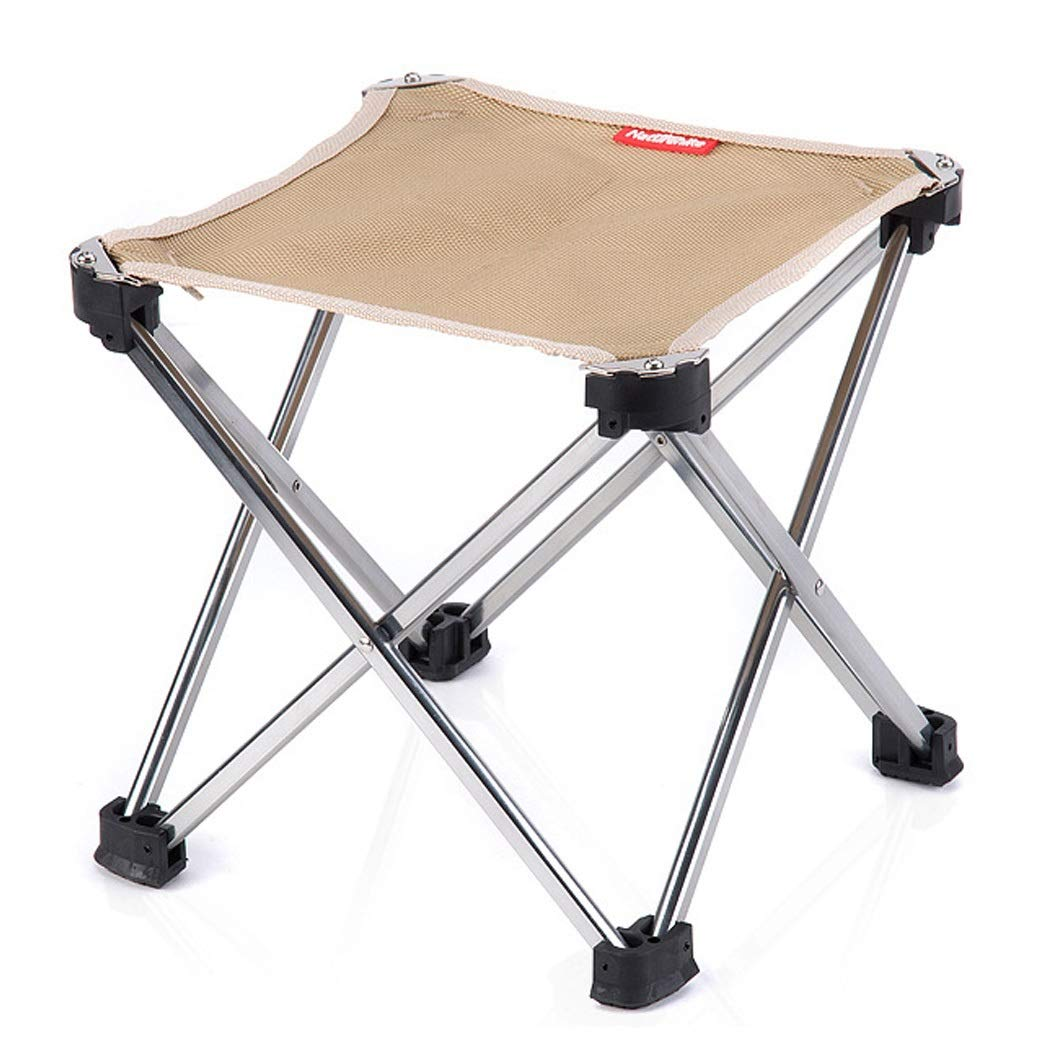Folding Chair Portable Outdoor Folding Chair Folding Stool Small Mazar Aluminum Fishing Chair (Color : Natural, Size : 252528cm)