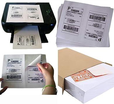 PACKZON® 5000 Shipping Labels 8.5x5.5 Square Corner Self Adhesive 2 Per Sheet