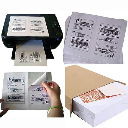 Etiquetas adhesivas de media hoja para impresora láser/inyección ...