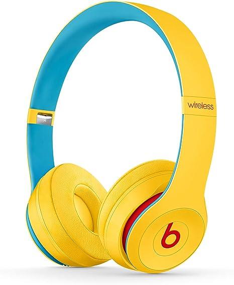 Beats Solo3 Wireless - Auriculares supraaurales - Chip Apple W1, Bluetooth de Clase 1, 40 horas de sonido ininterrumpido - Colección Beats Club - Club Amarillo: Beats: Amazon.es