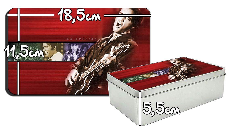 MasTazas Elvis Presley D Bo/îte M/étallique en Fer-Blanc Metal Tin Box