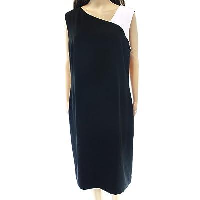 Lauren by Ralph Lauren Women's Asymmetric Colorblock Dress