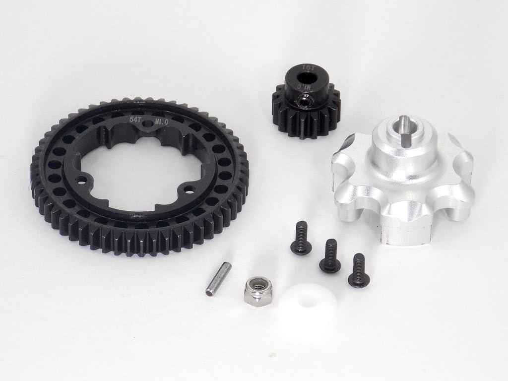 Traxxas X-Maxx 4X4 Upgrade Parts Aluminum Gear Adapter + Steel Spur Gear 54T + Motor Gear 16T (für X-Maxx 6S Only) - 1 Satz Silver